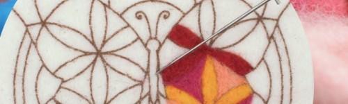 Coloriage laine feutrée